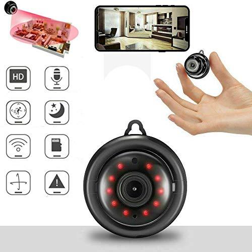 Mini Grabadora de Cámara Inalámbrica 1080p HD de WiFi, Enlace de Seguridad, Vigilancia Remota, Almacenamiento en la Nube, Audio Bidireccional, IP Inalámbrica, Visión Nocturna P2P