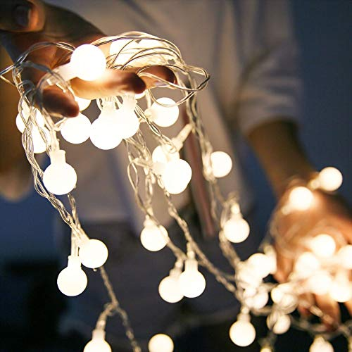 Guirlande lumineuse 3 boule de cerisier LED guirlande de conte de fées USB Noël vacances guirlande décoration guirlande lumineuse batterie 3m30 leds