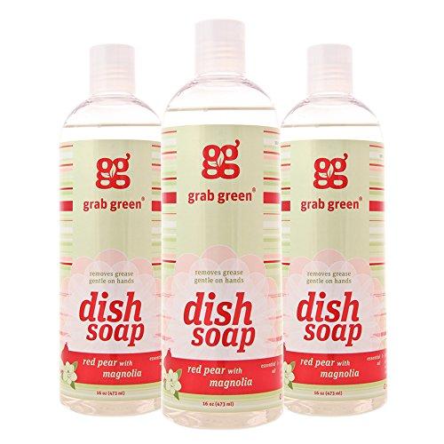 Grab Green Naturally-Derived Biodegradable Liquid Dish Soap
