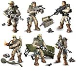 Military Minifigures,Soldier Special Forces Team Battle Brick Set Armor and Weapons Army Action Figures Toys for Kids
