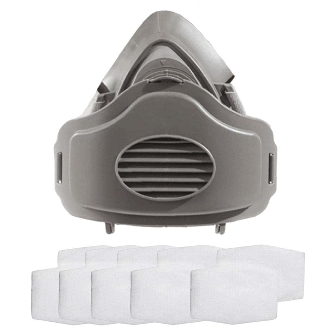 Sraeriot Cubierta De Cara Anti-polvo De Medio Respirador Con 10 Filtros Reemplazables Equipo De Protección De Lámina De Algodón Equipo De Seguridad Pública, Suministros Respiratorios