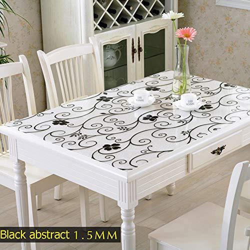 DENG&JQ Dicke PVC Tischdecken,Coffee Table Tabelle Tuch Wasserdicht ölbeständig Hohe temperatur · * · Kunststoff-pad Pad Plastic Transparent Matt Kristall-Teller-C 60x100cm(24x39inch)