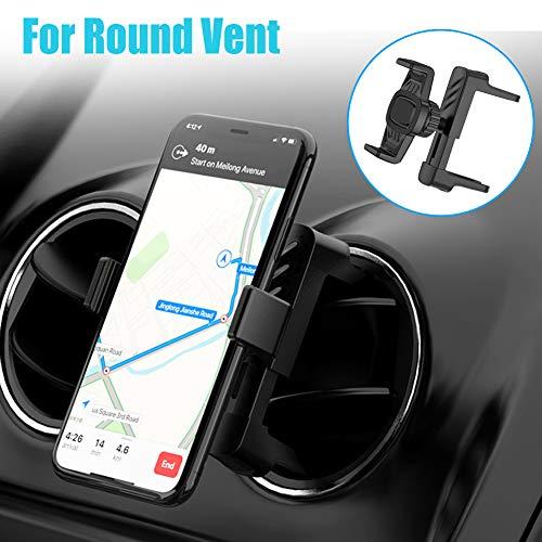 Handyhalterung für Runde lüftungen,Handyhalter fürs Auto Lüftung Kratzschutz KFZ Handyhalterung Neueste Upgrade Smartphone Halterung 360° Drehbar