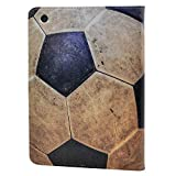 CYD Case for iPad Mini 5 2019 ,Vintage Soccer Football Pattern Leather Flip Stand Case Cover for Apple iPad Mini 5th Gen ,iPad Mini 4 7.9-inch