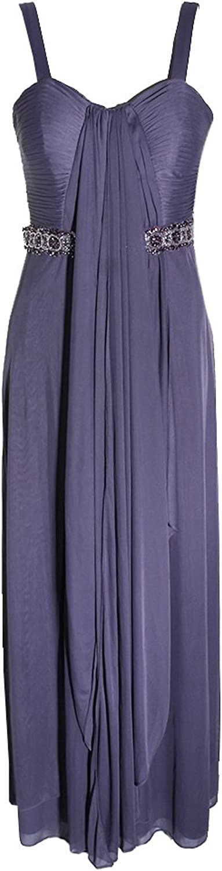 Alex Evenings Womens Embellished Sleeveless Evening Dress