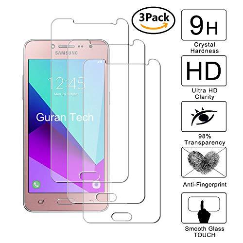 Guran [3-Unidades] Protector de Pantalla Vidrio Cristal Templado para Samsung Galaxy Grand Prime Plus G532F Smartphone Cristal Vidrio Templado Film (9H, 2.5D Edge, 0.3mm)