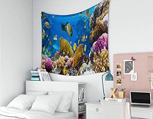 N\A Tapiz para Colgar en la Pared, tapices Deacutecor, Sala de Estar, Dormitorio para el hogar, por Impreso para la Foto de una Colonia de Coral en un Arrecife
