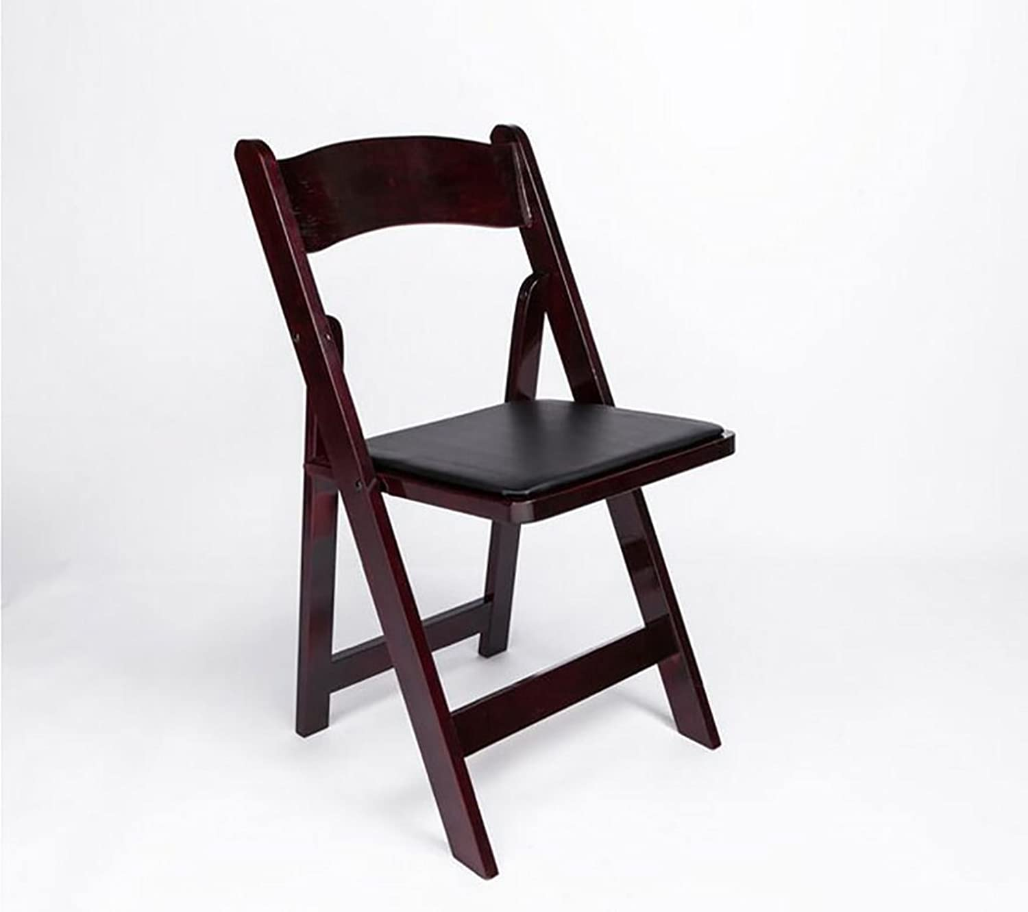 Chair Folding Chair Backrest Table Dining Chair Folding Oak Solid Wood Chair (color   1 )