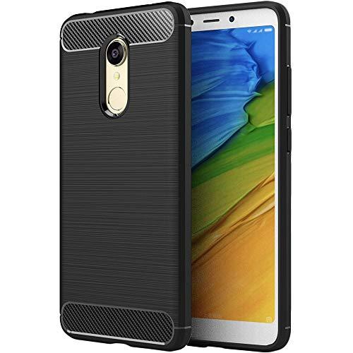 ebestStar - Funda Compatible con Xiaomi Redmi 5 Carcasa Silicona Gel, Protección Diseño Fibra Carbono Premium Ultra Slim Case, Negro [Aparato: 151.8 x 72.8 x 7.7mm, 5.7'']