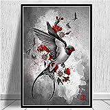 zzzddd Leinwand Bild,Home Wand Artwork Modulare Leinwand Gemälde Japanische Bushido Hd Gedruckte Bilder Im Nordischen Stil Plakat Für Wohnzimmer Dekoration, 20 * 30 cm Rahmenlos