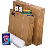 TELECAJAS® | Pack Mudanza (Cajas de cartón, plástico Burbujas, precinto, etc) con el Embalaje Necesario para una mudanza de casa (Pack MUDANZA Single)