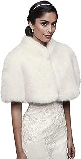 David's Bridal Faux-Fur Mock Neck Capelet Style OW2122