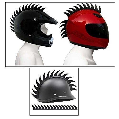Delhi Traderss Cuttable Helmet Mohawk Helmet Spikes Bike Helmet Spikes for-Yamaha Rx...
