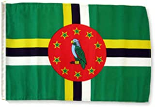 ALBATROS 12 inch x 18 inch Dominica Sleeve Flag for use on Boat, Car, Garden for Home and Parades, Official Party, All Weather Indoors Outdoors