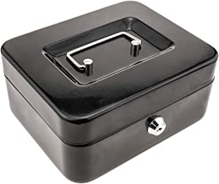 PrimeMatik - Caisse a Monnaie et Billets Boîte métallique Portable en Acier 198 x 158 x 88 mm