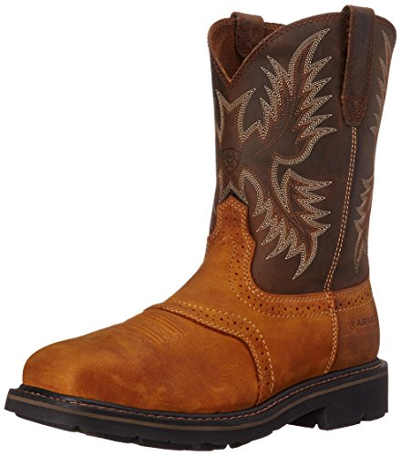 Ariat Men's Sierra Wide Square Steel Toe Work Boot, Aged Bark, 9.5 M US
