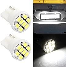 Partsam 2Pcs T10 W5W 8 SMD 3020 LED License Plate Lights HID Xenon White 194 168