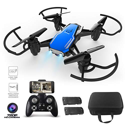 2.4G 6-axis Gyro FPV WiFi Drone with 720P HD 2MP Camera, Indoor Sport Games,Intelligent Obstacle Avoidance RC Quadcopter Toys with 3D Flips, Headless