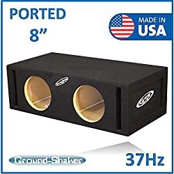 8 Dual ported subwoofer Box 37-Hz By Ground Shaker