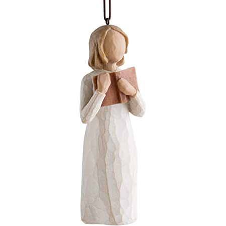 Willow Tree Love of Learning Ornament, Sculpted Hand-Painted Figure