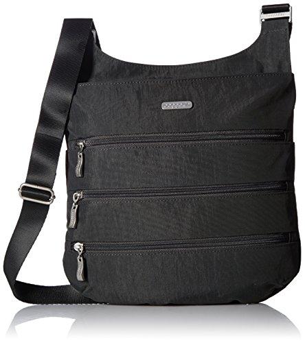 Baggallini Big Zipper Travel Crossbody Bag, Charcoal, One Size