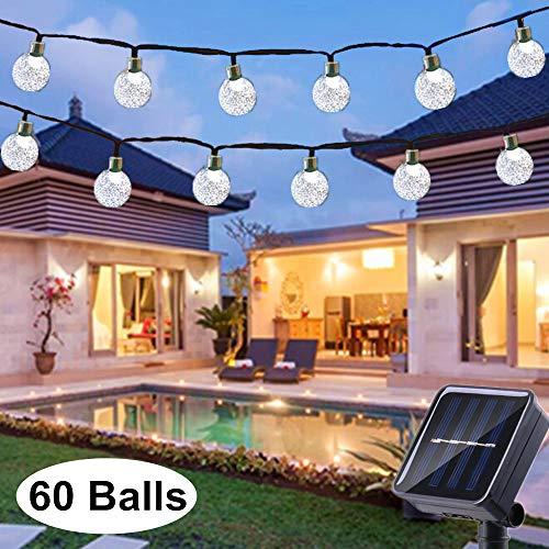 Solar String Lights Globe 33 Feet 60 Crystal Balls...