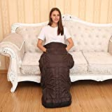 Heated Full Body Wraps, Woolala Electric Heating Pad Knee Hands Foot Warmer for Pain Relief, 6 Adjustable Temperature Levels/Auto Shut Off/Washable
