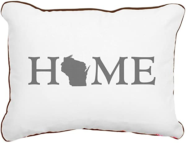CafePress Wisconsin Home 12 X15 Canvas Pillow Throw Pillow Accent Pillow