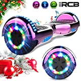 RCB Hoverboard 6.5' Overboard Patinete Eléctrico con LED Luces con Bluetooth - Regalo...