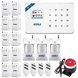 KERUI W18 WiFi Kit Alarme Kit d'Alarme Maison/Bureaux avec Système Centrale sans Fil/Détecteurs