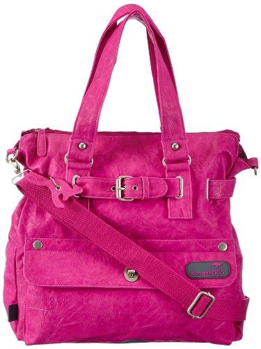 KangaROOS Jean-II Shopper (Set) B0290, Damen Shopper, Pink (lillipilli), 40x39x15 cm (B x H x T)