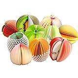 YOYURISE フルーツ メモ帳 もぎ取って使う 立体 3D かわいい フルーツメモ帳 ( 10個 セット )