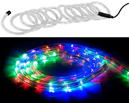 Lunartec Lichterschlauch: LED-Lichtschlauch für Innen- & Außenbereich, 720 LED, 10 m, mehrfarbig (LED Lichtschlauch außen)