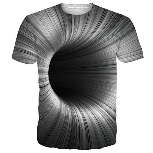 chicolife Camisa para Hombre Unisex 3D de Manga Corta Estampada Tunnle Summer Casual Tees Mens Adultos Cuello...