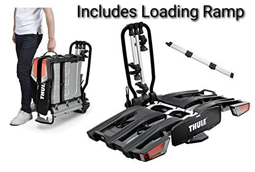 Thule 934EasyFold Fahrradträger für 3Fahrräder XT Fahrradträger für Anhängerkupplung, klappbar mit Verladerampe