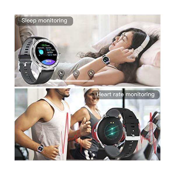 CanMixs Smartwatch, Reloj Inteligente IP67 Pulsera Actividad Hombre y Mujer, CM13 Deportivo Reloj Fitness con Pantalla… 2
