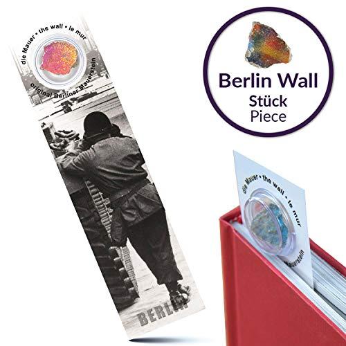 Boekenlegger met originele Berlijnse muur   De muur Duitse vlag   Handgemaakt rechtstreeks uit de Berlijnse fabriek