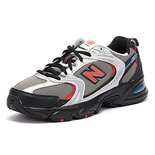 New Balance 530 Mens Grey/Black/Red Sneakers-UK 9 / EU 43