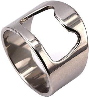 Anello Uomo Titanio,Cinturino Creativo Cavatappi per Impegno, WLG, acciaio, taglia 10
