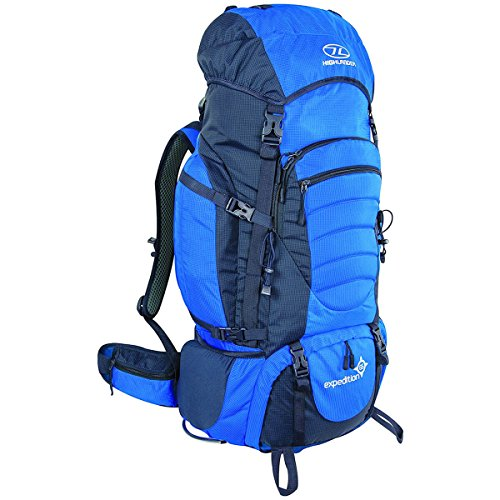 Highlander Expedition Rucksack ꟷ 60L, 65L & 85L Quality Backpack ꟷ Ideal for Hiking, Backpacking, DofE, Scouting Trips ꟷ Men & Women ꟷ Blue, Black, Red & Purple