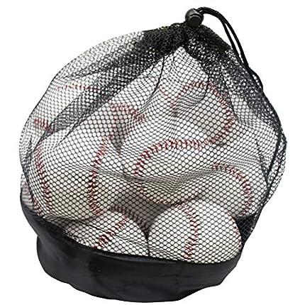 Tebery - Juego de 12 pelotas de béisbol para jóvenes/adultos, sin marcar y cubierto de cuero, para ancianos, jugadores profesionales