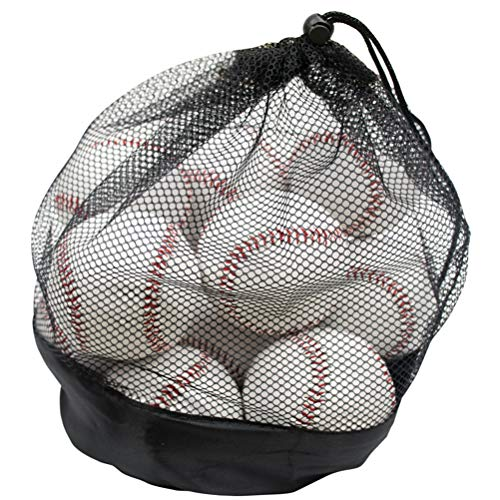 Tebery 12 Pack Standard Size Youth/Adult Baseballs Unmarked & Leather Covered Suit for Elders, Professional Players