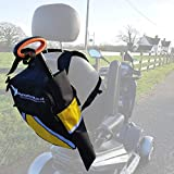 High Visibility Mobility Scooter & Wheelchair Bag with Crutch/Walking Stick Holder