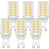MLlichten 6W Bombillas LED G9 4000K Blanco Natural, Equivalente 50W 60W Halógeno, No Regulable Sin Parpadeo G9 LED...