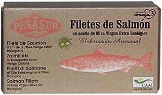 3 x 120 g - Pesasur Lomos Salmón Salvaje Aceite de Oliva