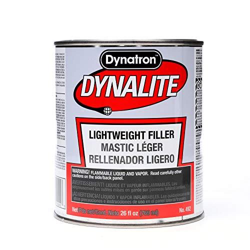 Dynatron Dynalite Body Filler, 492, 1 qt,Gray