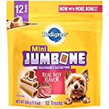 Contains Eight (8) 7.2-Oz. Packs Of Pedigree Jumbone Real Beef Flavor Mini Dog Treats (12 Treats Per Pack) A long-lasting dog bone that is specially designed for treating toy dogs and small adult dogs These PEDIGREE mini treats for dogs are specially...