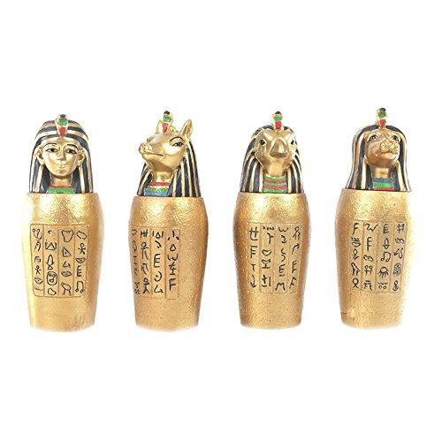 Juego de 4jarras egipcias de vaso canopo, el regalo perfecto para cumpleaños, Navidad, Día del padre, etc.