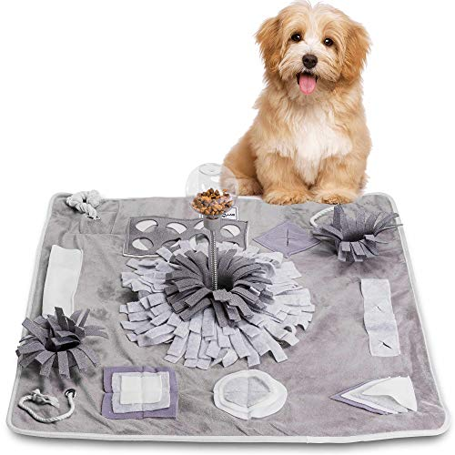 DEOPLLAE Snuffle Mat (Premium Mat with Treat Ball & Toys) Interactive Dog...