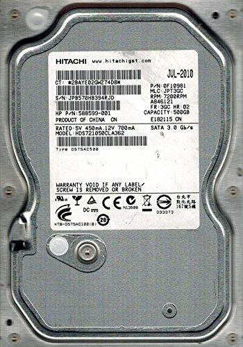 Hitachi HDS721050CLA362P/N: 0F10981MLC: jpt3gc 500GB